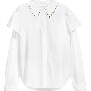 White blouse with studs
